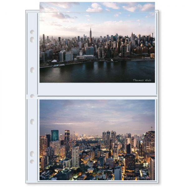 PrintFile® Ordnerhüllen A5-4P für 2x DIN A5 / 13x18 cm PP