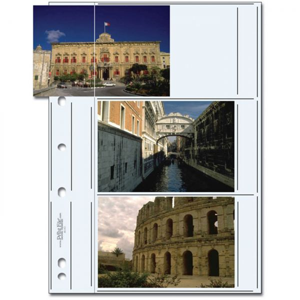 PrintFile® Ordnerhüllen 46-6G für 3x 10x15cm Quer