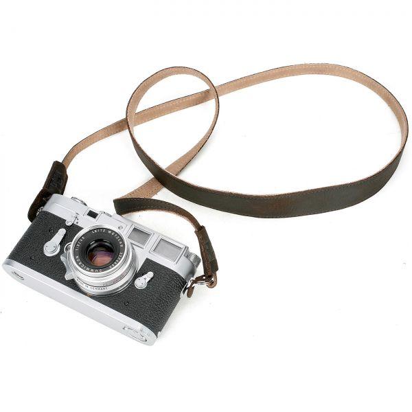 Monochrom Leder-Kameragurt mono_200