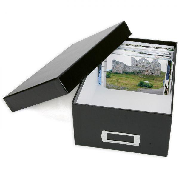 PrintFile Photo Box 10x15 - black / 10 Dividers