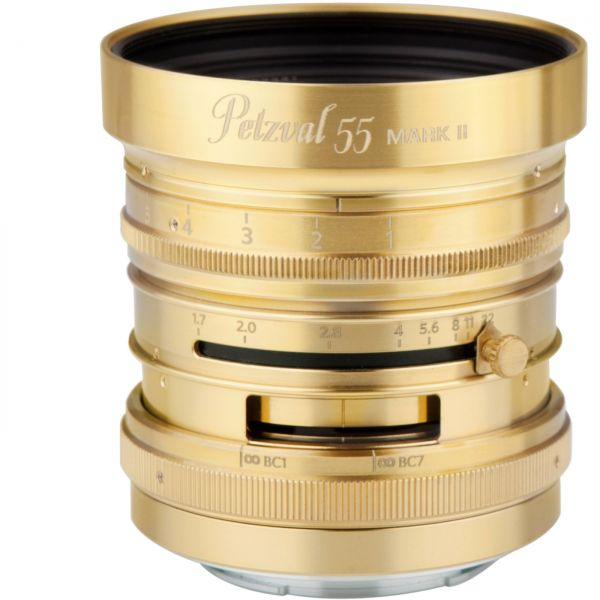 New Petzval 55 mm f/1.7 MKII Messing