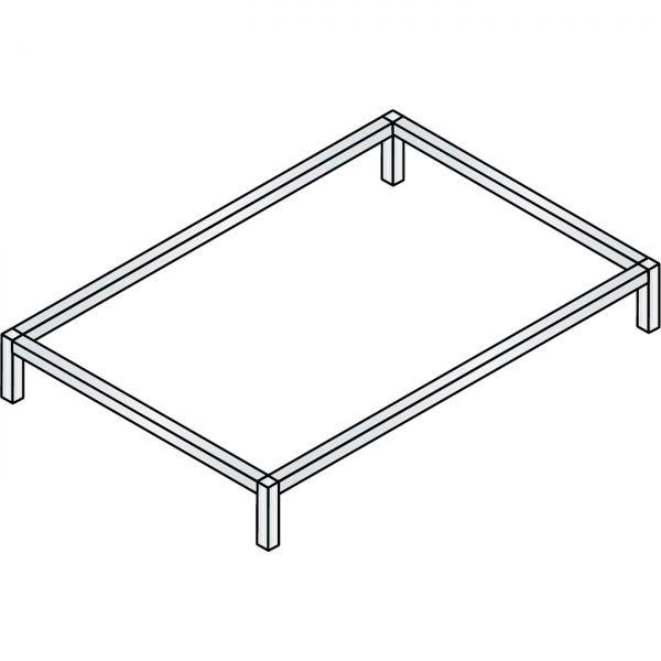 C+P Untergestell für Flachablageschränke