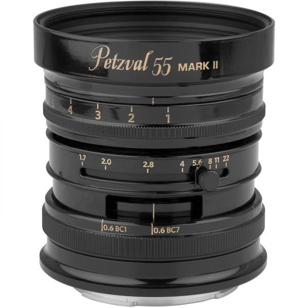 New Petzval 55 mm f/1.7 MKII Schwarzes Messing