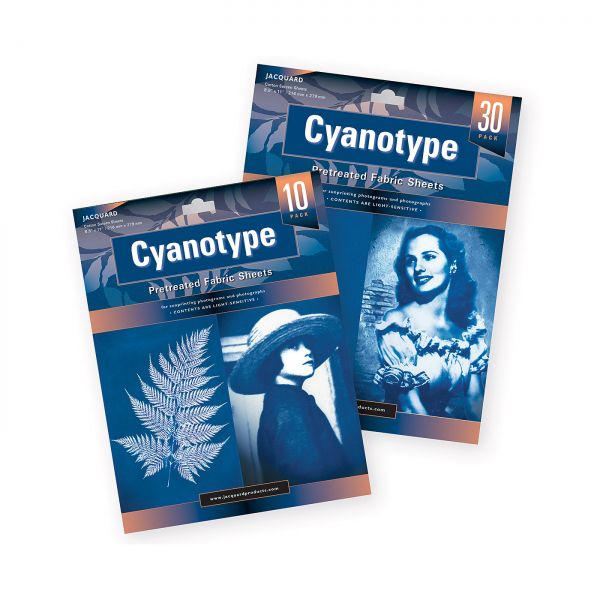 Cyanotypie Druckbögen Stoff