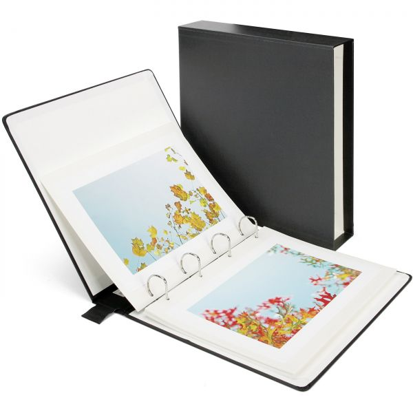 Photoalbum schwarz mit Schuber / Maß 35x32,5x7cm