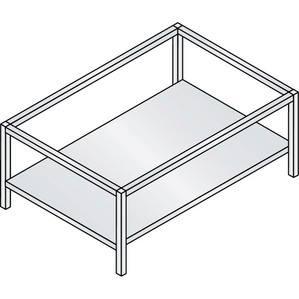 C+P Untergestell mit Zwischenboden für Flachablageschränke
