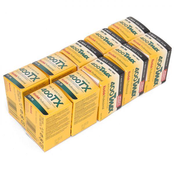 Kodak T-Max 400 + Kodak TRI-X 135/36 KB-SW-Filme 10 Stück