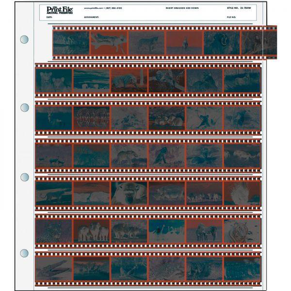 PrintFile® Negativ-Ordnerhüllen 35-7BXW für 7x 6er-KB-Streifen PE