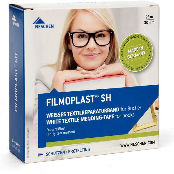 Filmoplast SH – 3cm x 25m Leinenklebeband im Spender