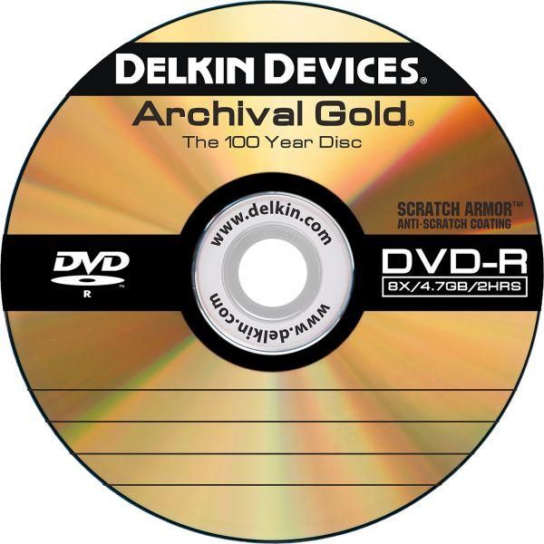 Delkin Archival Discs - 25 DVDs mit Antikratzbeschichtung