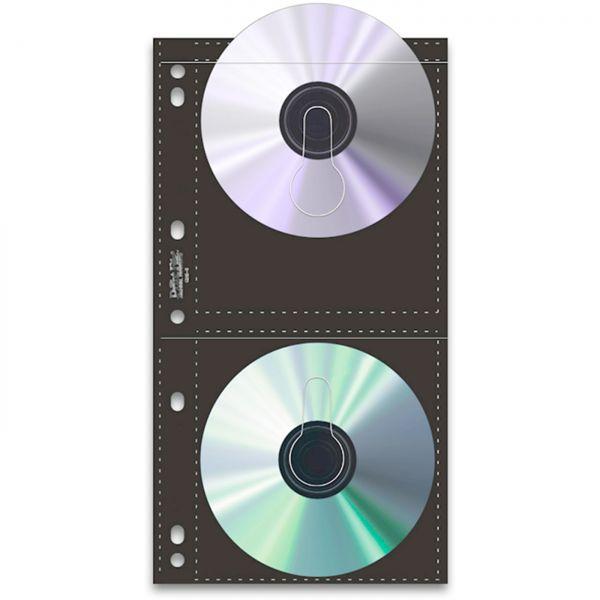 PrintFile CD/DVD-Hüllen 25 St./für 4 CDs/DVDs je Hülle Lochung Multiring