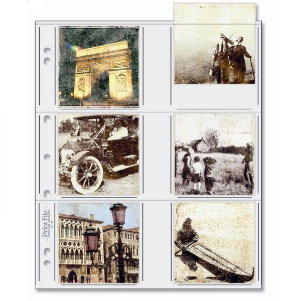 PrintFile® Bilder-Ordnerhüllen 33-12P / 12x 8,5x8,5cm