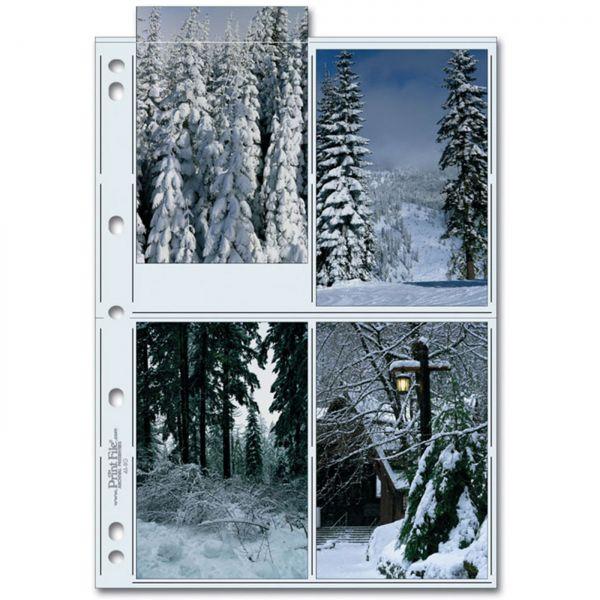 PrintFile® Ordnerhüllen 46-8G für 4x 10x15cm Hochformat