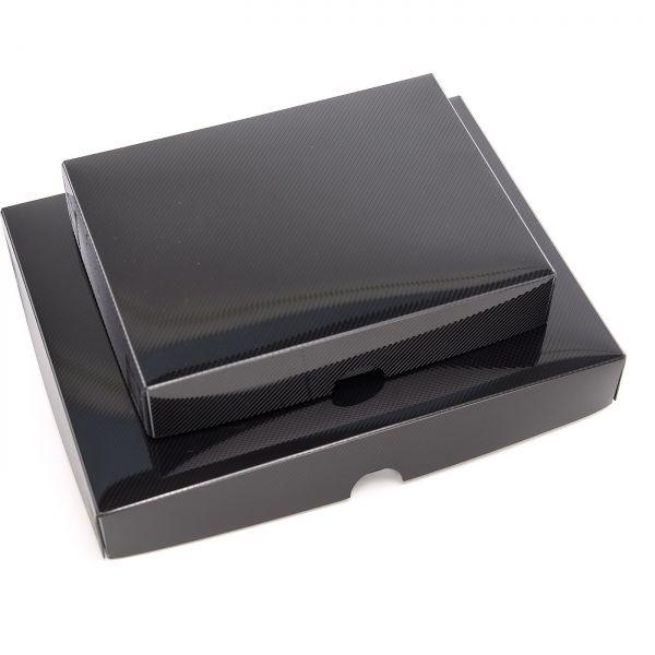 Monochrom PP-Archivboxen Schwarz