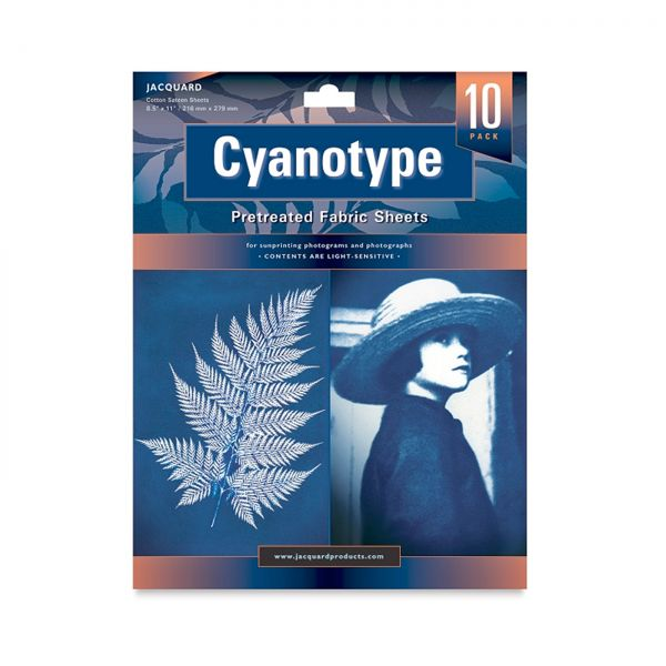 Cyanotypie Stoffbögen