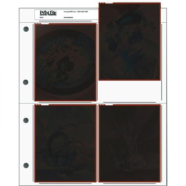 PrintFile® Negativ-Ordnerhüllen 454-B für 4x 4x5inch / 10x13cm PE
